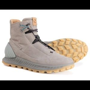 ECCO EXOSTRIKE LEATHER MID TOP HIKING BOOTS